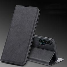 Coque Portefeuille Livre Cuir Etui Clapet T08 pour Huawei Honor 20 Pro Noir
