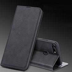 Coque Portefeuille Livre Cuir Etui Clapet T08 pour Huawei Honor View 20 Noir