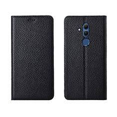Coque Portefeuille Livre Cuir Etui Clapet T08 pour Huawei Mate 20 Lite Noir