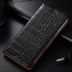 Coque Portefeuille Livre Cuir Etui Clapet T08 pour OnePlus 7T Pro Noir