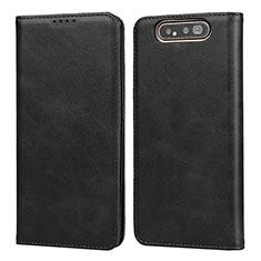Coque Portefeuille Livre Cuir Etui Clapet T08 pour Samsung Galaxy A80 Noir