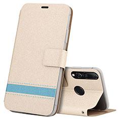 Coque Portefeuille Livre Cuir Etui Clapet T09 pour Huawei Honor 20 Lite Or
