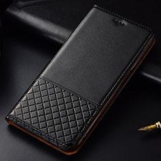 Coque Portefeuille Livre Cuir Etui Clapet T09 pour Huawei P30 Noir