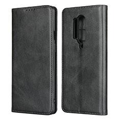 Coque Portefeuille Livre Cuir Etui Clapet T09 pour OnePlus 8 Pro Noir