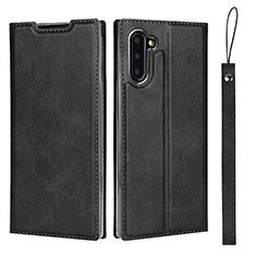 Coque Portefeuille Livre Cuir Etui Clapet T09 pour Samsung Galaxy Note 10 5G Noir
