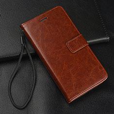 Coque Portefeuille Livre Cuir Etui Clapet T09 pour Samsung Galaxy S10e Marron
