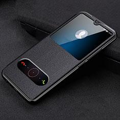 Coque Portefeuille Livre Cuir Etui Clapet T10 pour Huawei Honor 20 Lite Noir