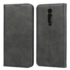 Coque Portefeuille Livre Cuir Etui Clapet T10 pour Xiaomi Mi 9T Pro Noir