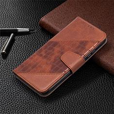 Coque Portefeuille Livre Cuir Etui Clapet T10 pour Xiaomi Redmi 9A Marron