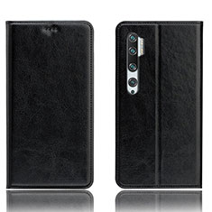 Coque Portefeuille Livre Cuir Etui Clapet T12 pour Xiaomi Mi Note 10 Noir