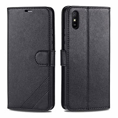 Coque Portefeuille Livre Cuir Etui Clapet T12 pour Xiaomi Redmi 9A Noir