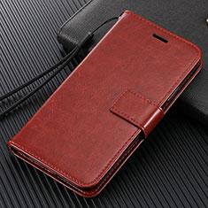 Coque Portefeuille Livre Cuir Etui Clapet T14 pour Xiaomi Mi Note 10 Marron