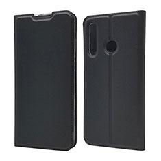 Coque Portefeuille Livre Cuir Etui Clapet T15 pour Huawei Honor 20 Lite Noir