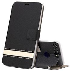 Coque Portefeuille Livre Cuir Etui Clapet T15 pour Huawei Honor View 20 Noir