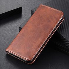 Coque Portefeuille Livre Cuir Etui Clapet T15 pour Samsung Galaxy Note 20 5G Marron