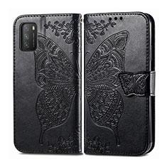 Coque Portefeuille Livre Cuir Etui Clapet T15 pour Xiaomi Poco M3 Noir