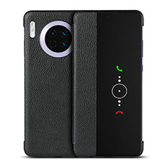 Coque Portefeuille Livre Cuir Etui Clapet T16 pour Huawei Mate 30 5G Noir