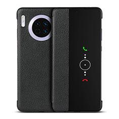 Coque Portefeuille Livre Cuir Etui Clapet T16 pour Huawei Mate 30 Pro Noir