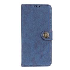 Coque Portefeuille Livre Cuir Etui Clapet T17 pour Samsung Galaxy Note 20 5G Bleu