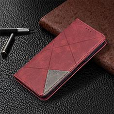 Coque Portefeuille Livre Cuir Etui Clapet T17 pour Xiaomi Poco M3 Rouge