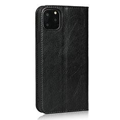 Coque Portefeuille Livre Cuir Etui Clapet T18 pour Apple iPhone 11 Pro Max Noir