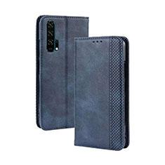Coque Portefeuille Livre Cuir Etui Clapet T18 pour Huawei Honor 20 Pro Bleu