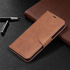 Coque Portefeuille Livre Cuir Etui Clapet T18 pour Xiaomi Poco M3 Marron