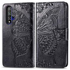 Coque Portefeuille Livre Cuir Etui Clapet T19 pour Huawei Honor 20 Noir