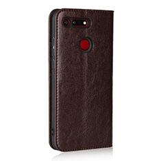 Coque Portefeuille Livre Cuir Etui Clapet T19 pour Huawei Honor View 20 Marron