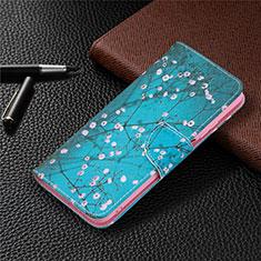 Coque Portefeuille Livre Cuir Etui Clapet T19 pour Xiaomi Poco M3 Bleu