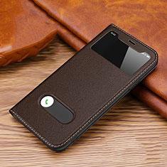 Coque Portefeuille Livre Cuir Etui Clapet T20 pour Apple iPhone 11 Pro Max Marron