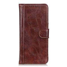 Coque Portefeuille Livre Cuir Etui Clapet T21 pour Samsung Galaxy Note 20 5G Marron