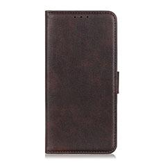 Coque Portefeuille Livre Cuir Etui Clapet T25 pour Samsung Galaxy Note 20 5G Marron