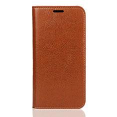 Coque Portefeuille Livre Cuir Etui Clapet U01 pour Huawei Enjoy 8S Orange