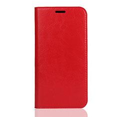 Coque Portefeuille Livre Cuir Etui Clapet U01 pour Huawei Enjoy 8S Rouge