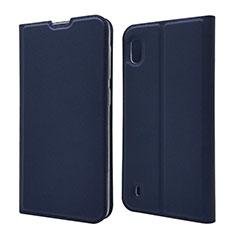 Coque Portefeuille Livre Cuir Etui Clapet U01 pour Samsung Galaxy A10 Bleu
