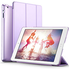 Coque Portefeuille Livre Cuir L01 pour Apple iPad 3 Violet