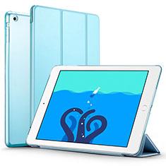 Coque Portefeuille Livre Cuir L01 pour Apple iPad Air Bleu Ciel