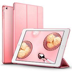 Coque Portefeuille Livre Cuir L01 pour Apple iPad Air Rose