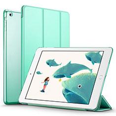 Coque Portefeuille Livre Cuir L01 pour Apple iPad Air Vert