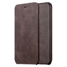 Coque Portefeuille Livre Cuir L01 pour Apple iPhone 6S Plus Marron
