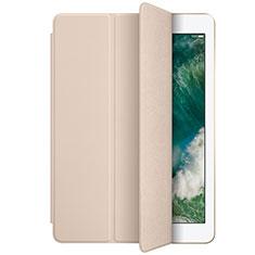 Coque Portefeuille Livre Cuir L01 pour Apple New iPad 9.7 (2018) Or