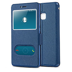 Coque Portefeuille Livre Cuir L01 pour Huawei G9 Lite Bleu