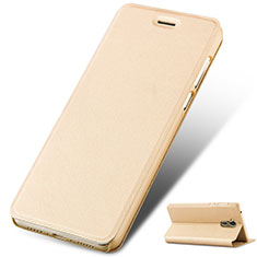 Coque Portefeuille Livre Cuir L01 pour Huawei Honor 6A Or