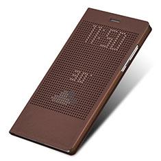 Coque Portefeuille Livre Cuir L01 pour Huawei Honor Note 8 Marron