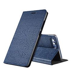 Coque Portefeuille Livre Cuir L01 pour Huawei Honor V10 Bleu