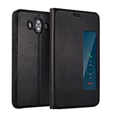 Coque Portefeuille Livre Cuir L01 pour Huawei Mate 10 Noir