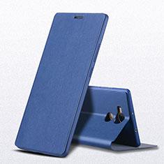 Coque Portefeuille Livre Cuir L01 pour Huawei Mate 8 Bleu