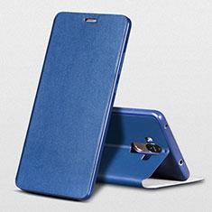 Coque Portefeuille Livre Cuir L01 pour Huawei Mate 9 Bleu