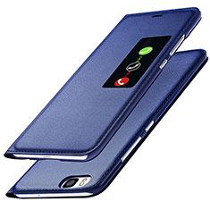 Coque Portefeuille Livre Cuir L01 pour Huawei P8 Bleu